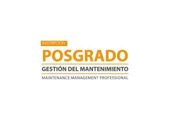Inscripción Postgrado en Gestión del Mantenimiento- Primera Cuota
